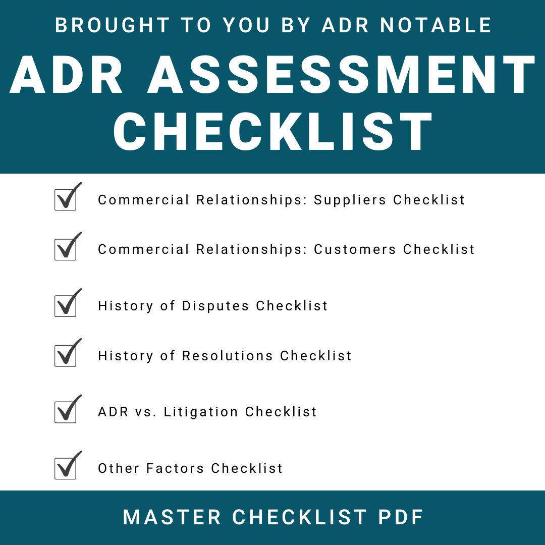 ADR Assessment Checklist for Businesses