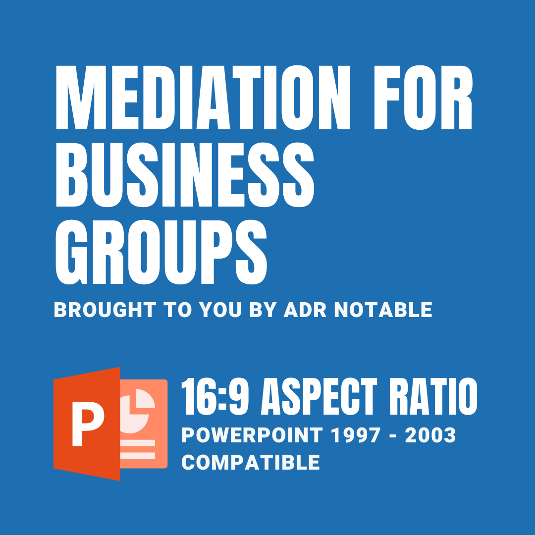 resources for mediators - Mediation for Business Groups PPT Compatible 16:9