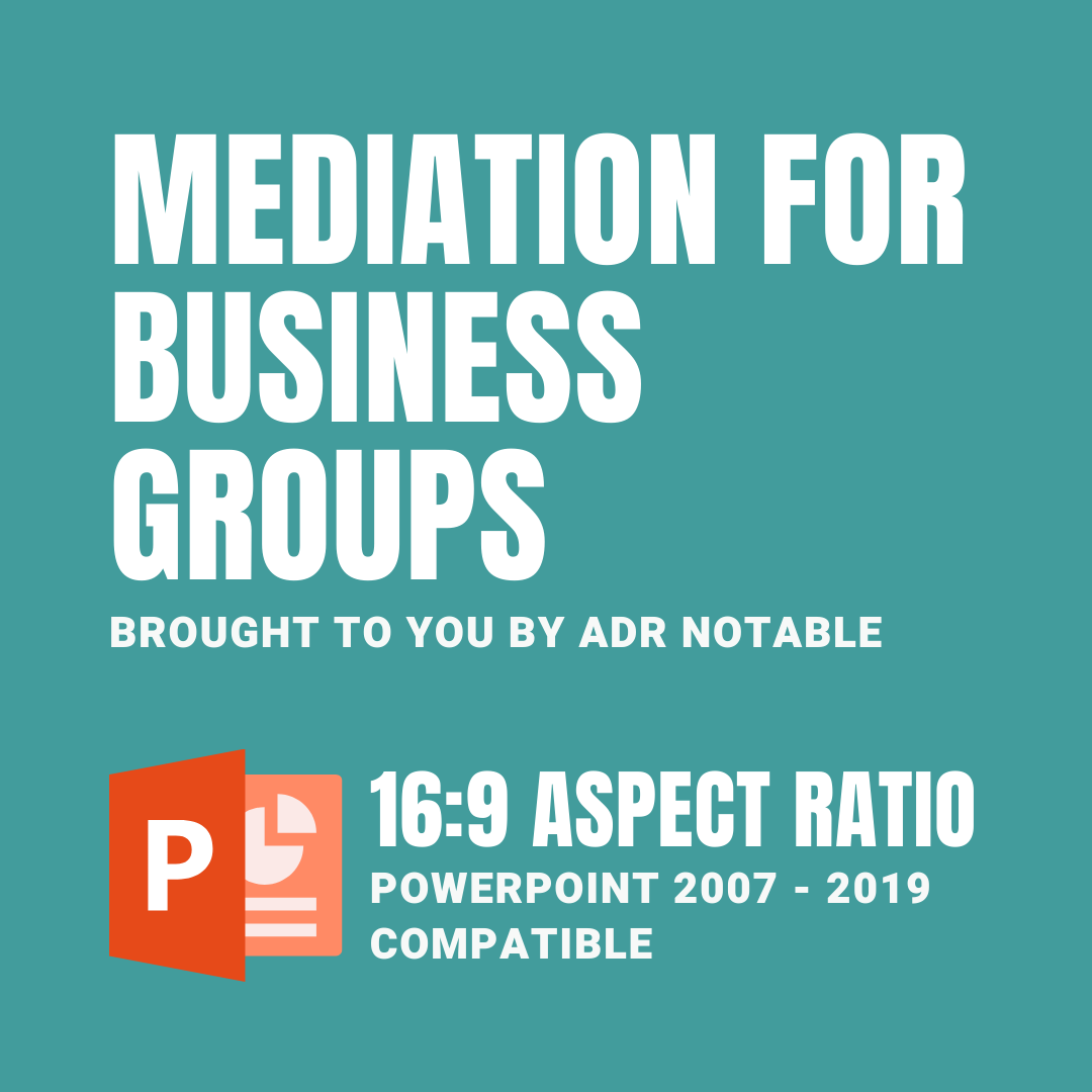 resources for mediators - mediation for business groups deck