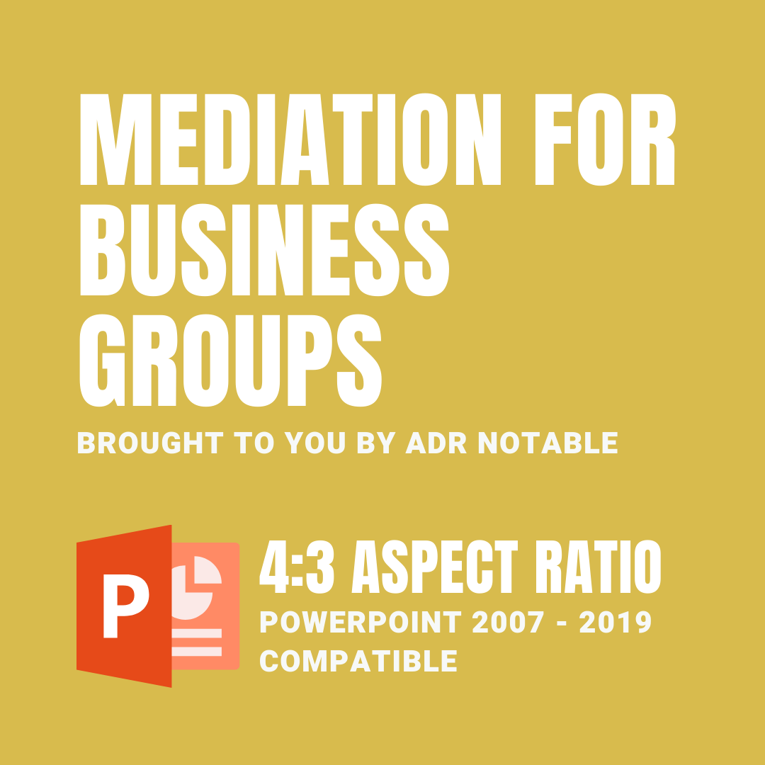 resources for mediators - Mediation for Business Groups PPTX 4:3 Icon