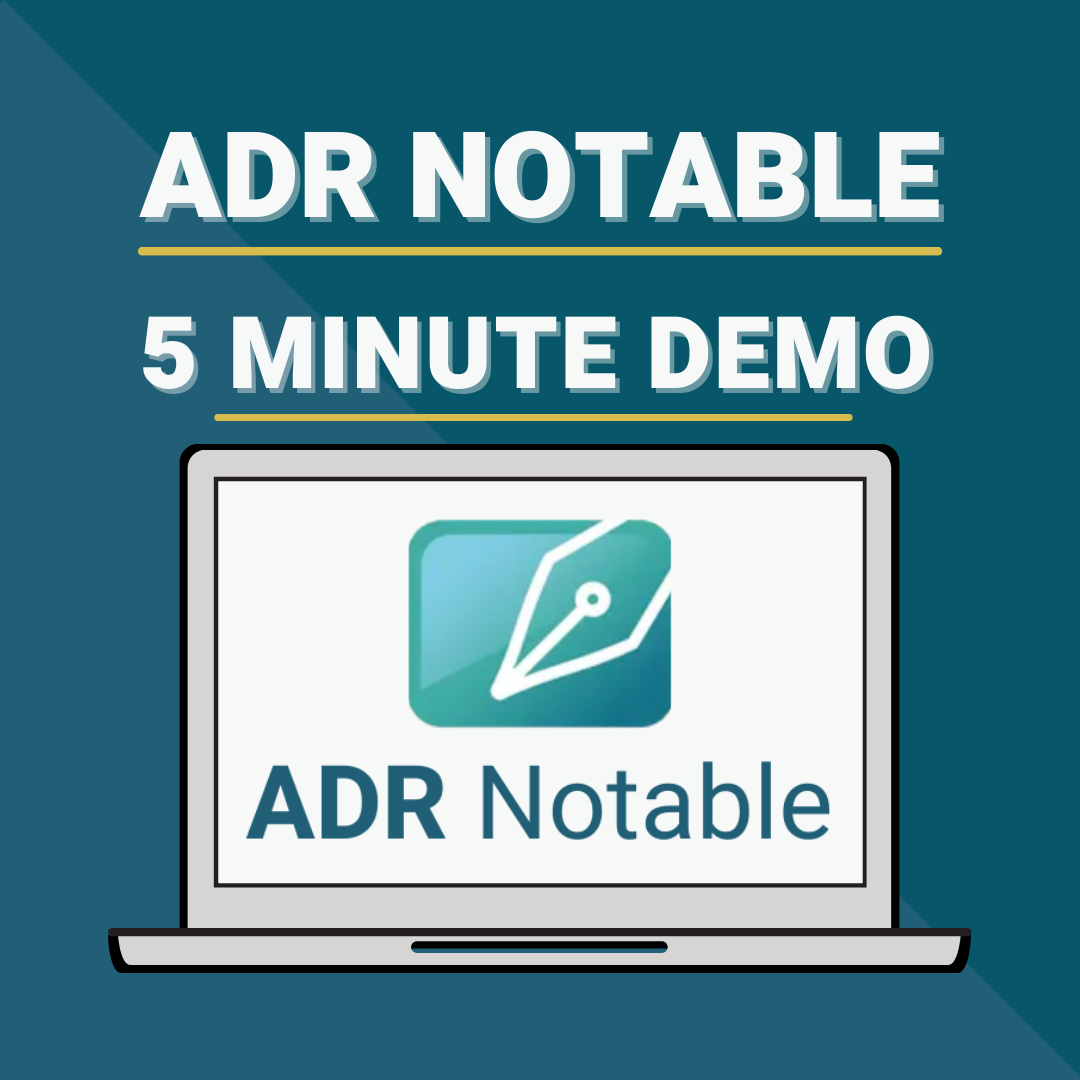 ADR Notable 5 Minute Demo